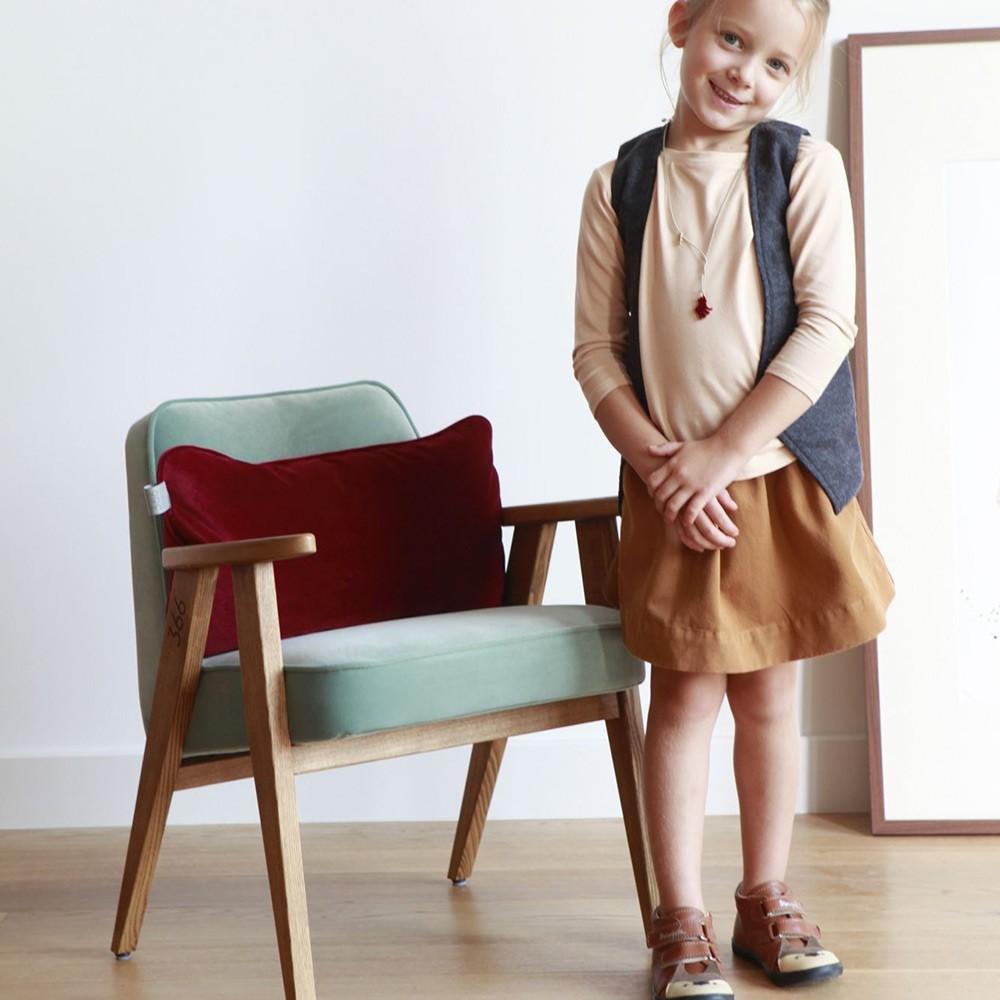 366 Velvet armchair Junior sky blue 366 Concept