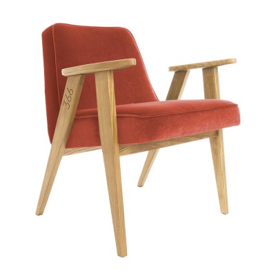 366 Junior fauteuil van chilipeper in fluweel 366 Concept