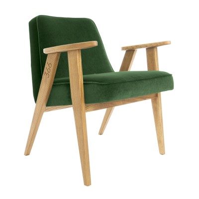 366 Velvet armchair Junior bottle green 366 Concept