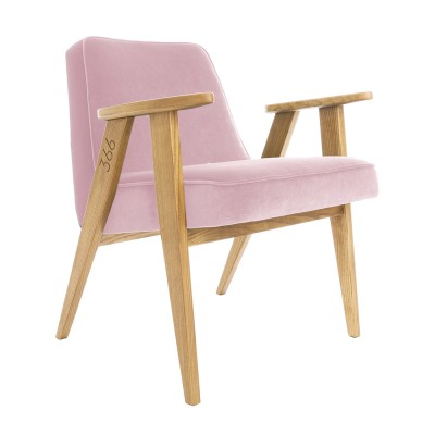 366 Velvet armchair Junior powder pink 366 Concept
