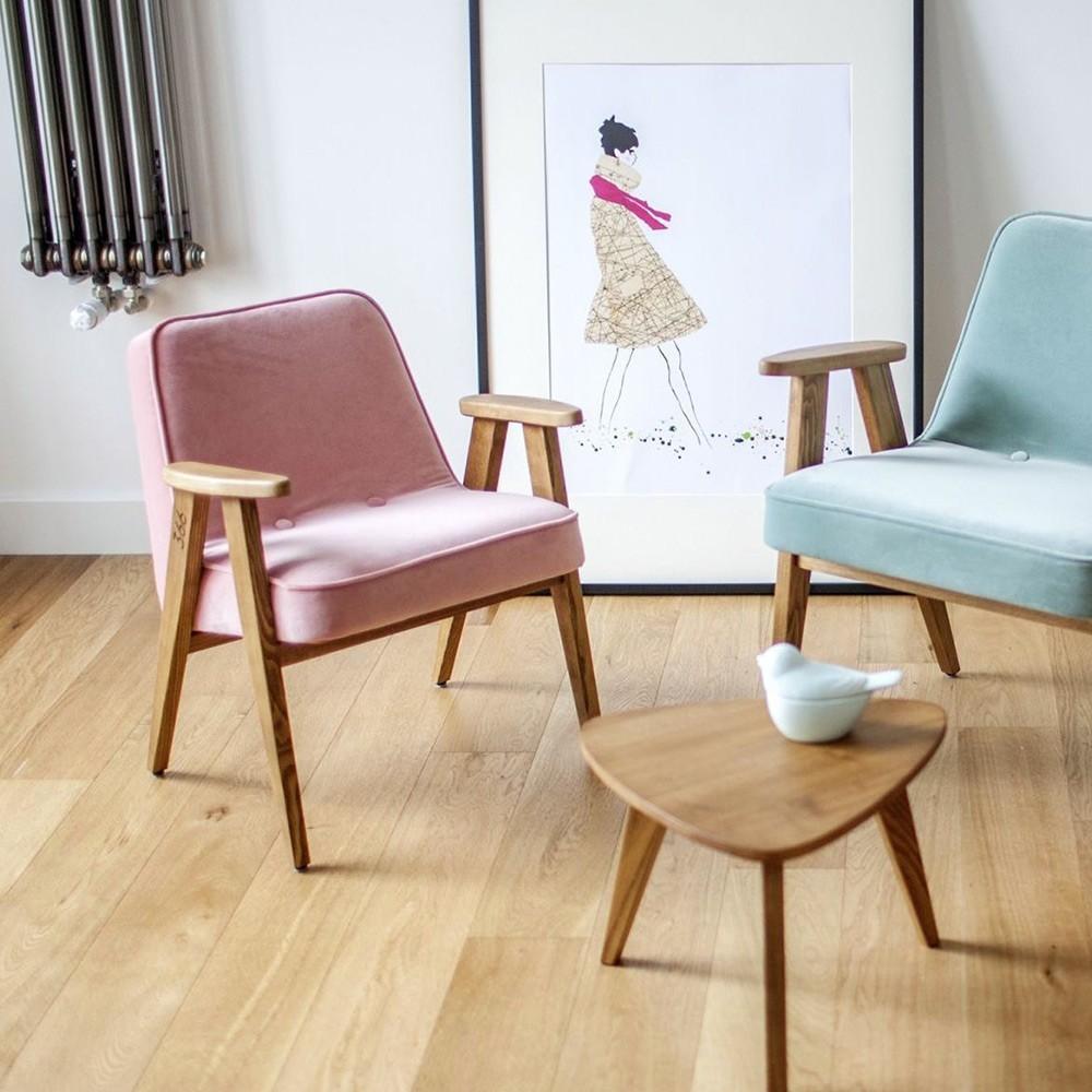 366 Junior Velvet poederroze fauteuil 366 Concept