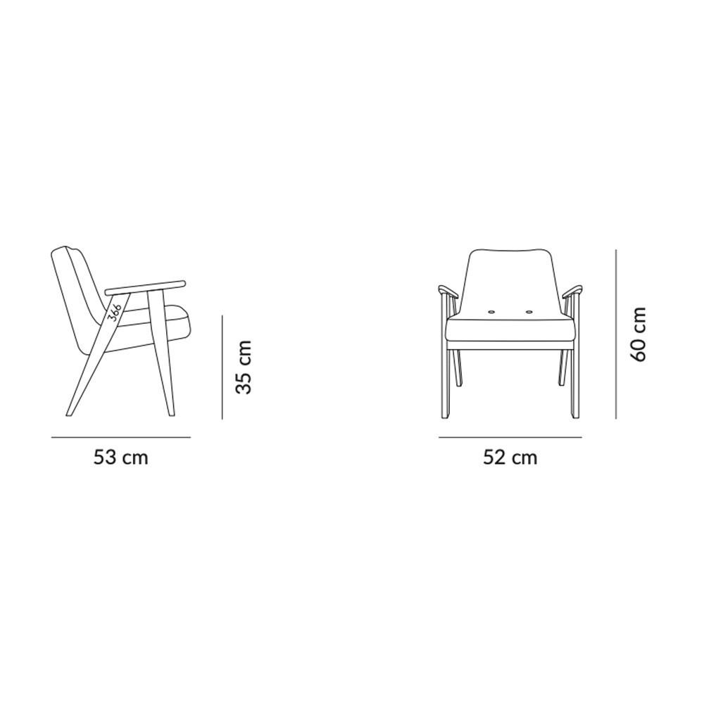 366 Velvet armchair Junior graphite 366 Concept