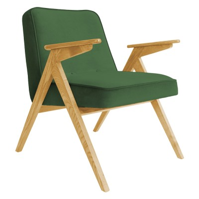 Bunny armchair Velvet bottle green 366 Concept