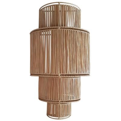 4-laags raffia wandlamp