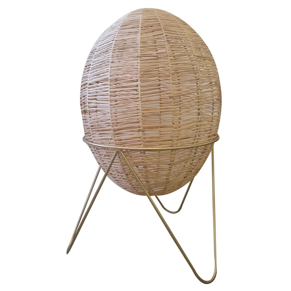 Egg lamp raffia S Honoré