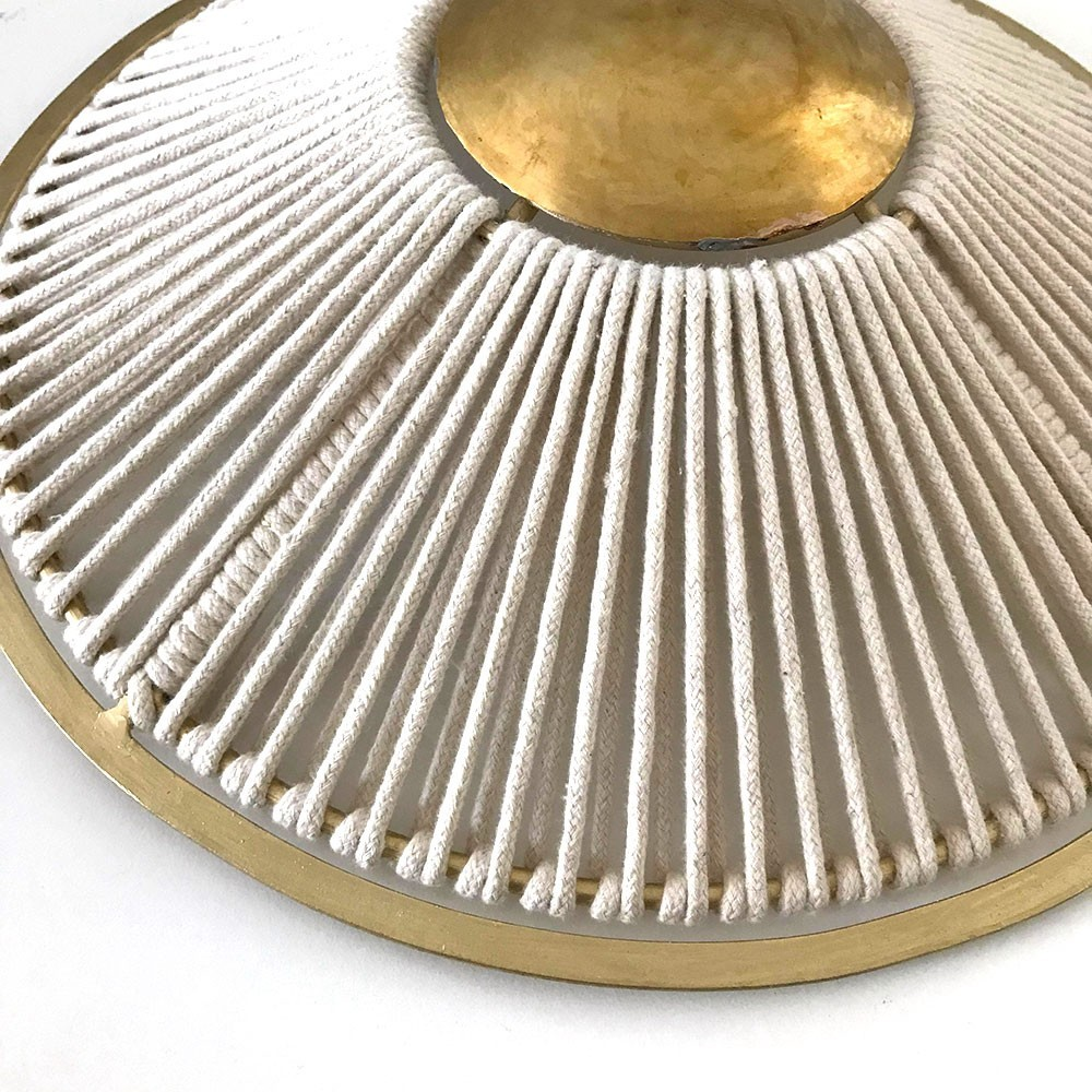 Round wall lamp with rope Honoré