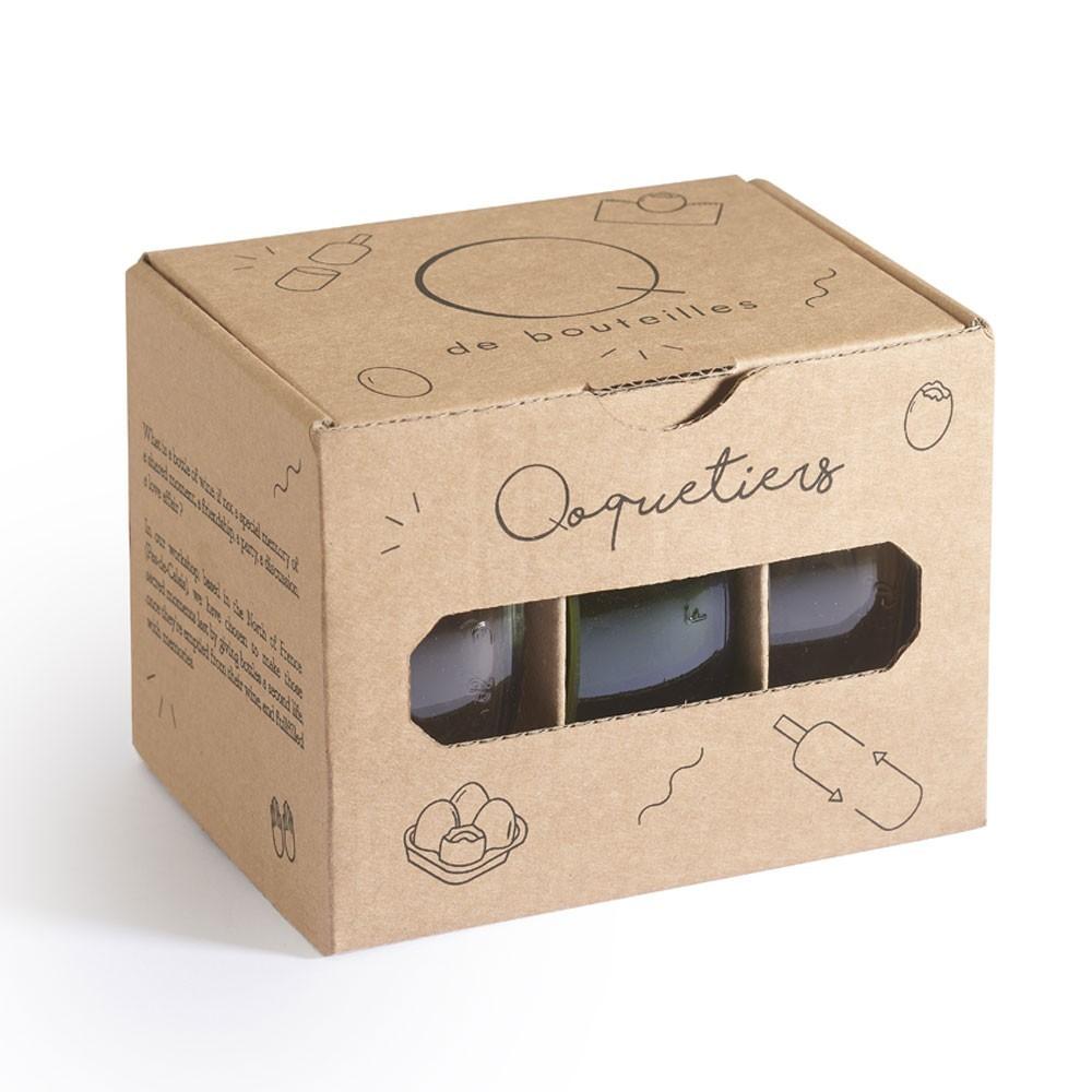 Qoquetiers (set of 3) Q de bouteilles