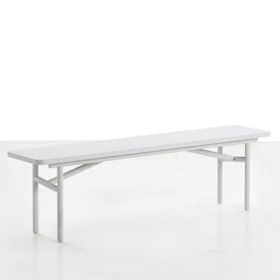 Diagonal bench grey Woud