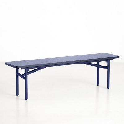 Diagonal bench blue Woud