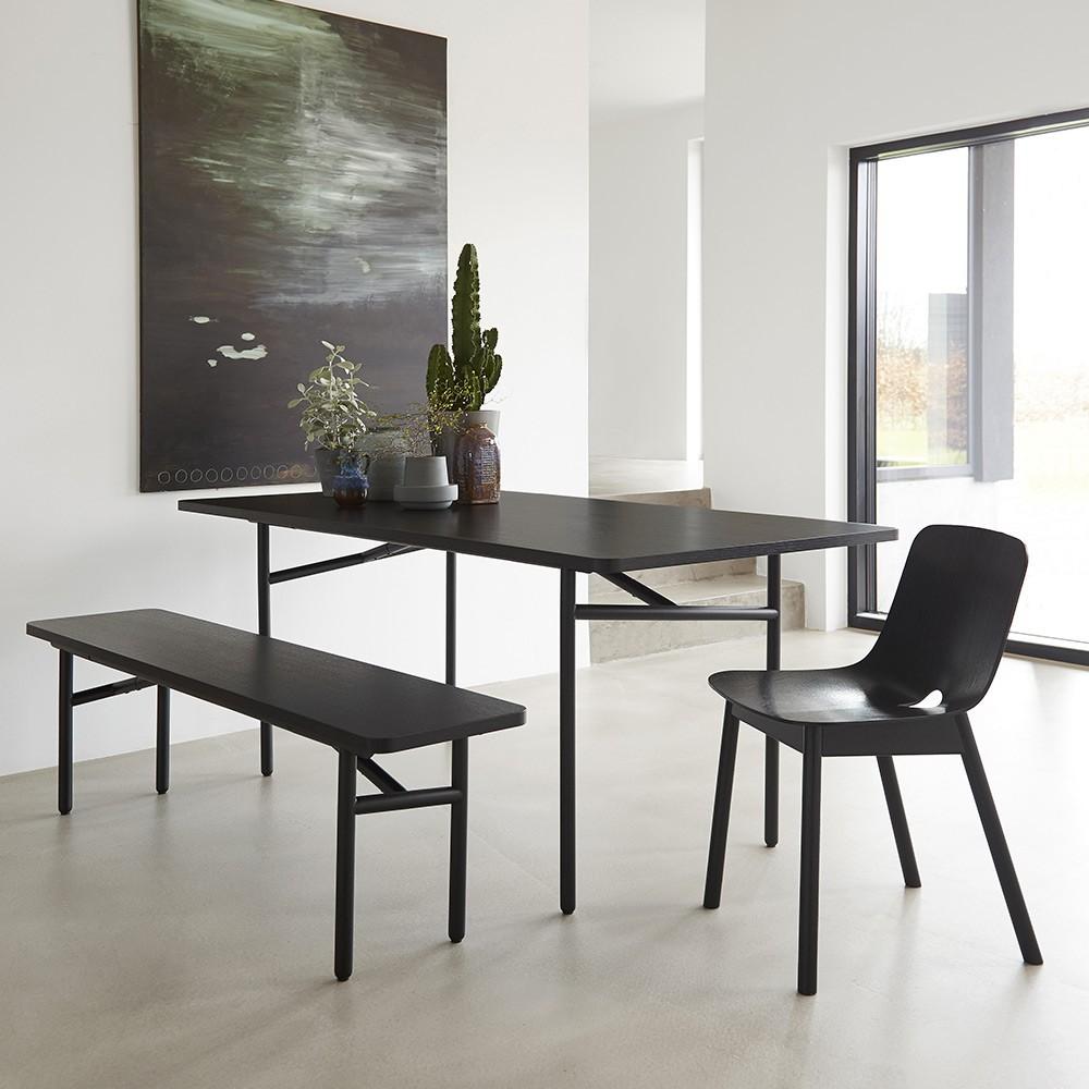Diagonal table grey Woud