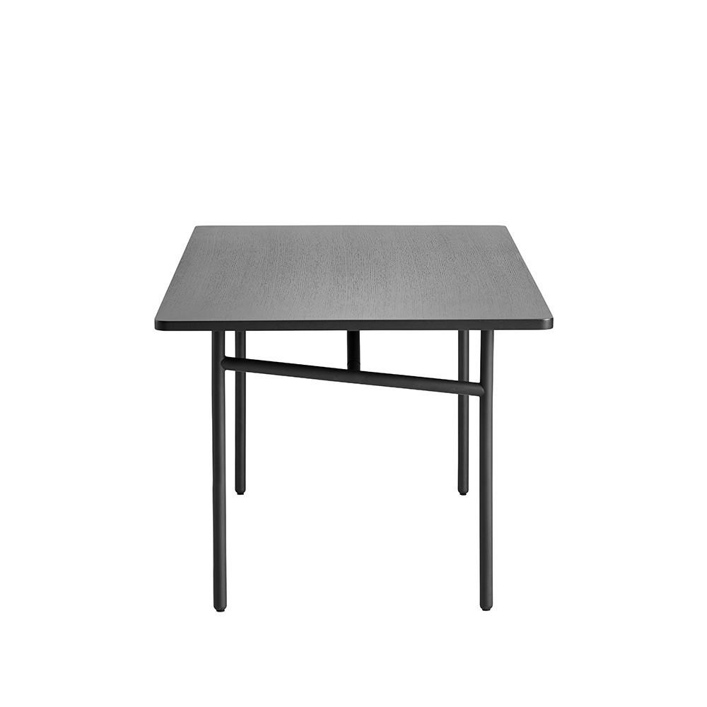 Diagonal table black Woud