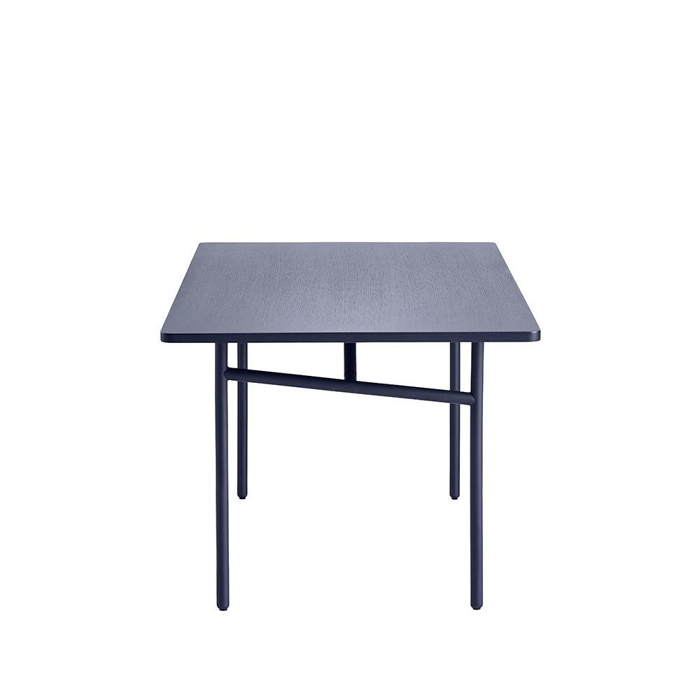 Diagonal table blue Woud