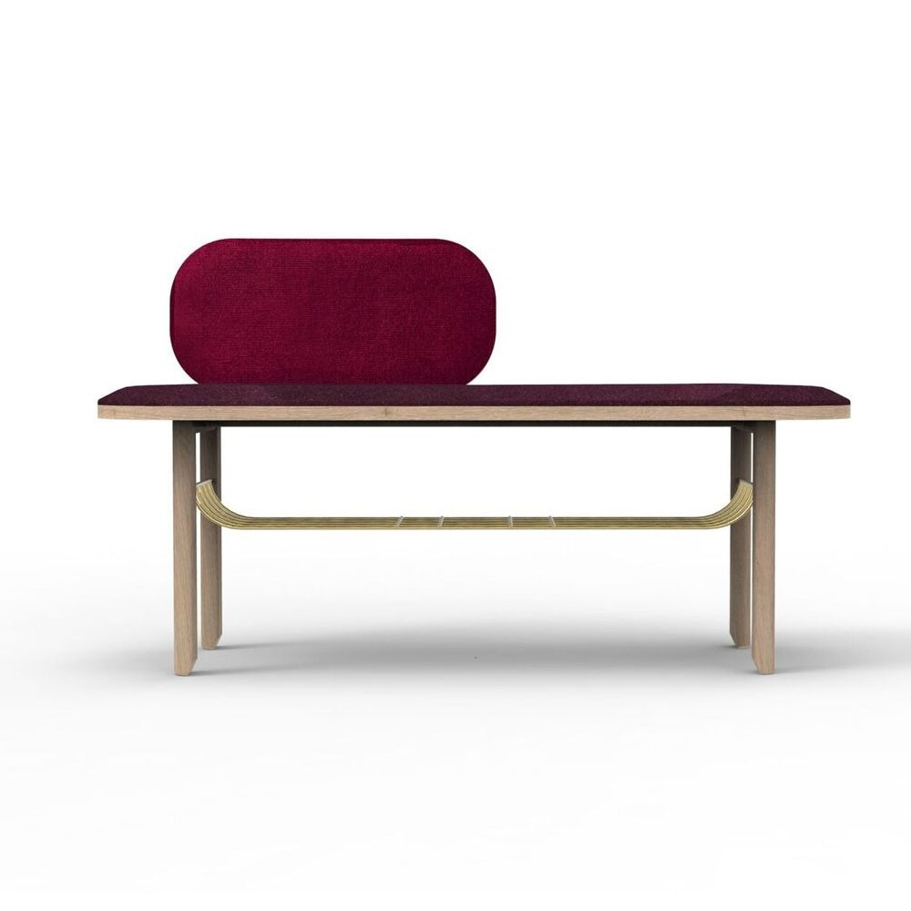 Eustache bench bordeaux Hartô