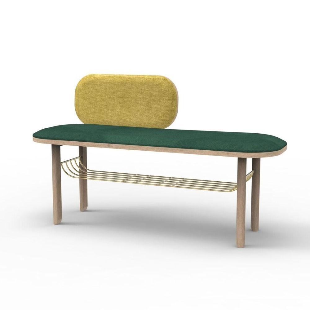 Eustache bench green Hartô