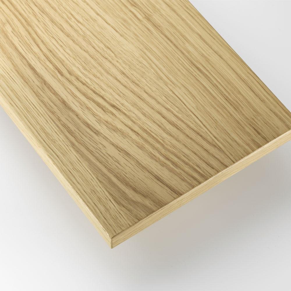 Oak shelves - String system String