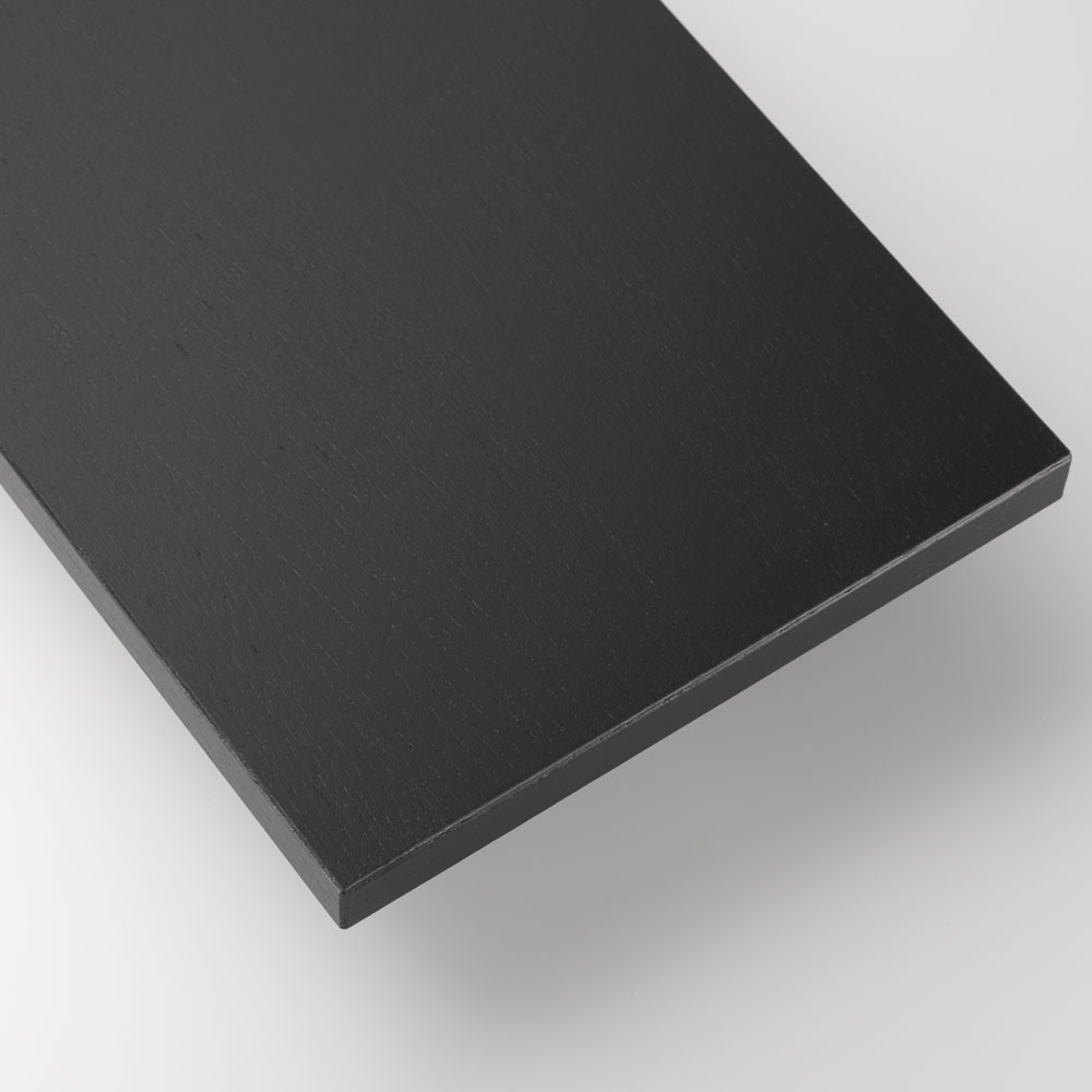Black stained ash shelves - String system String
