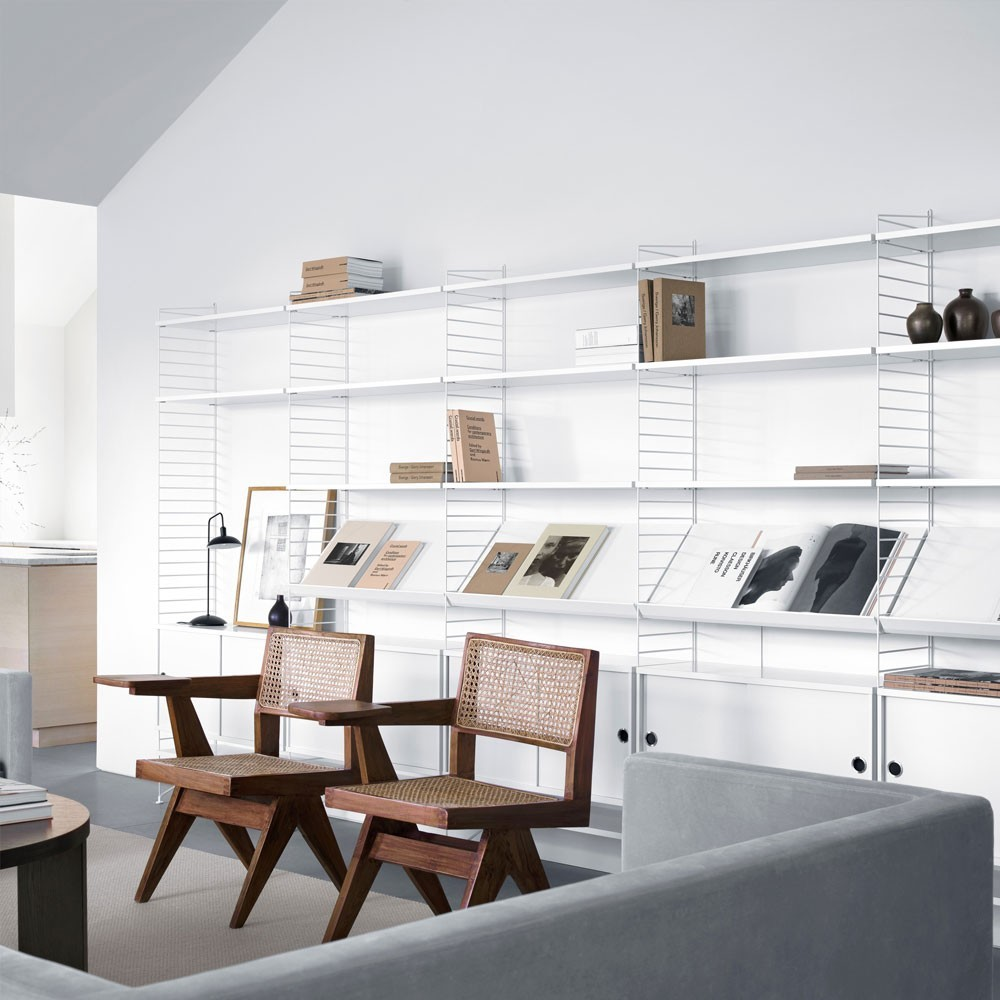White shelves - String system String