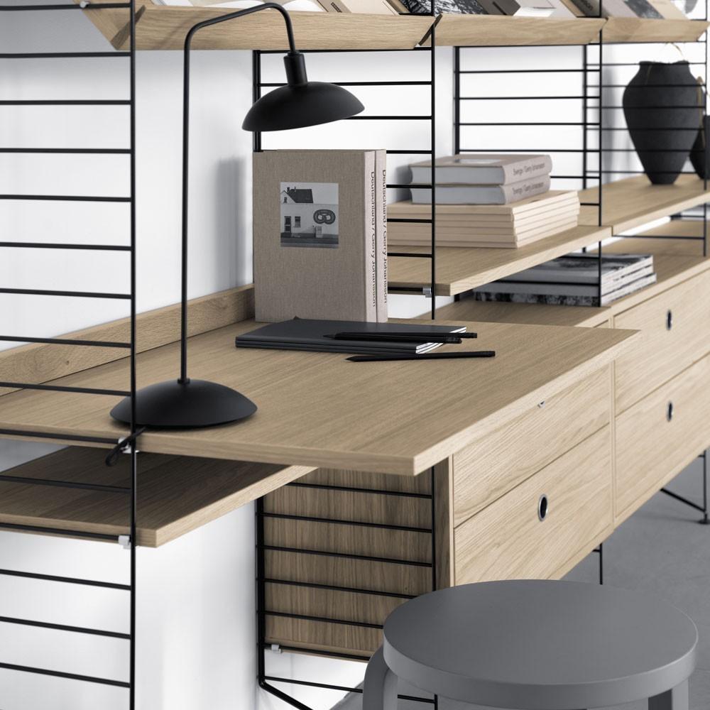 Oak work desk - String system String