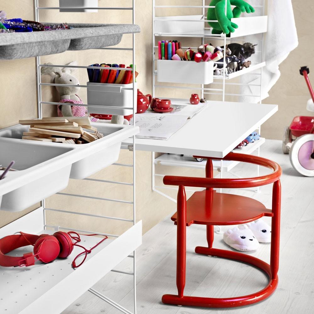 Grey work desk - String system String
