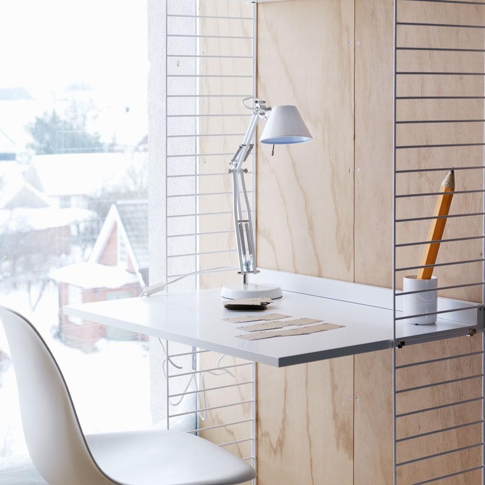 Grijs bureau - String-systeem String Furniture