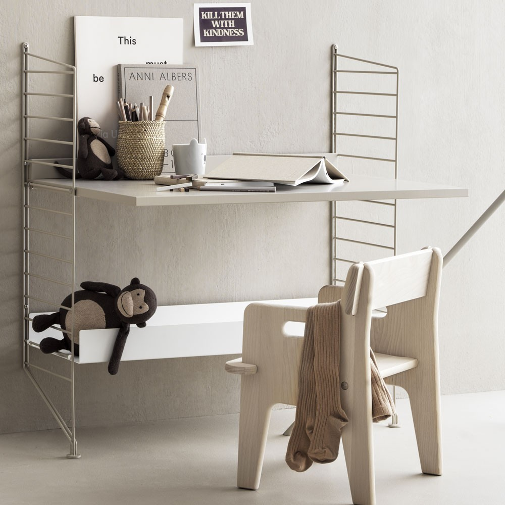 Beige work desk - String system String