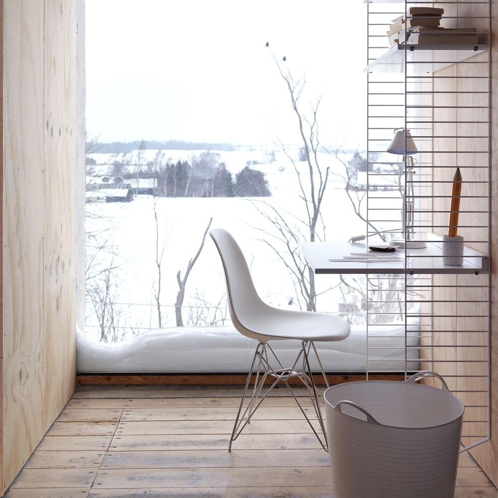 White work desk - String system String