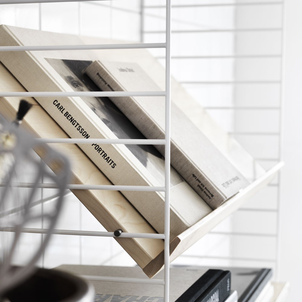 Ash magazine shelf - String system String
