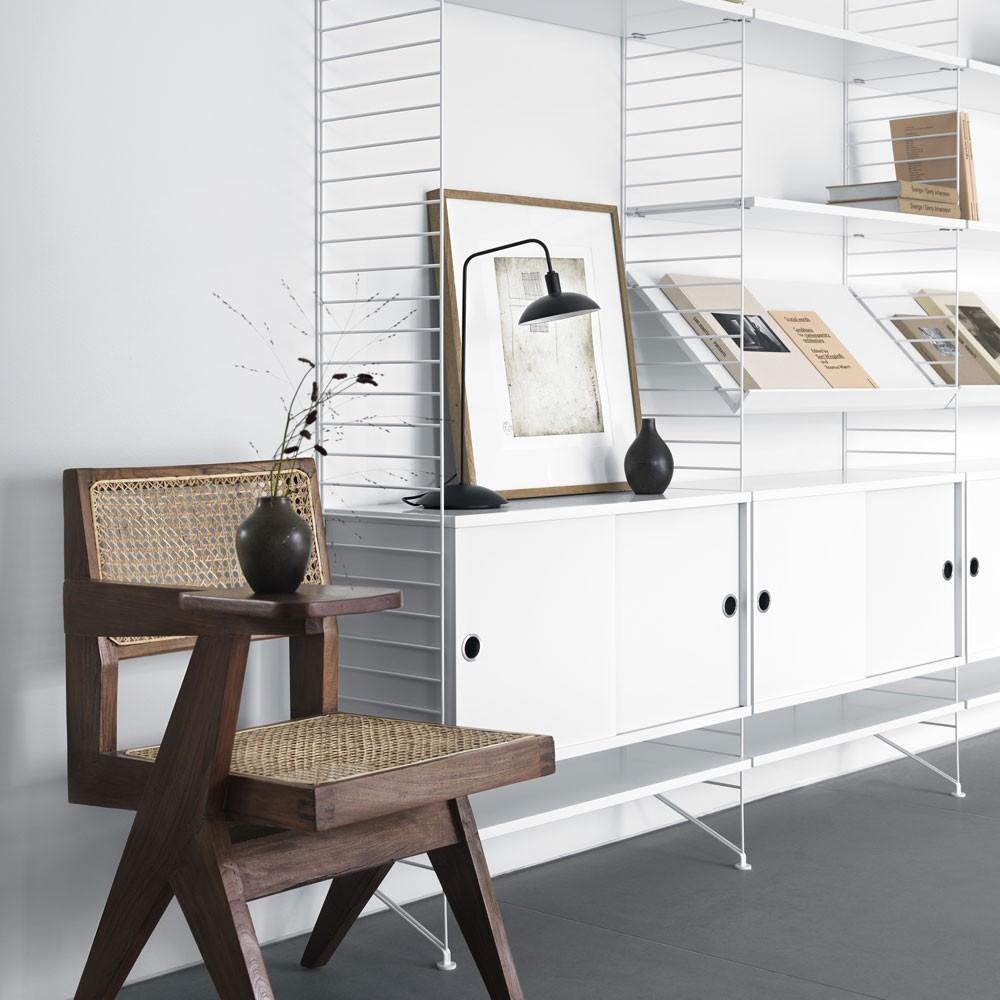 Étagère d'exposition blanc - Système String String Furniture