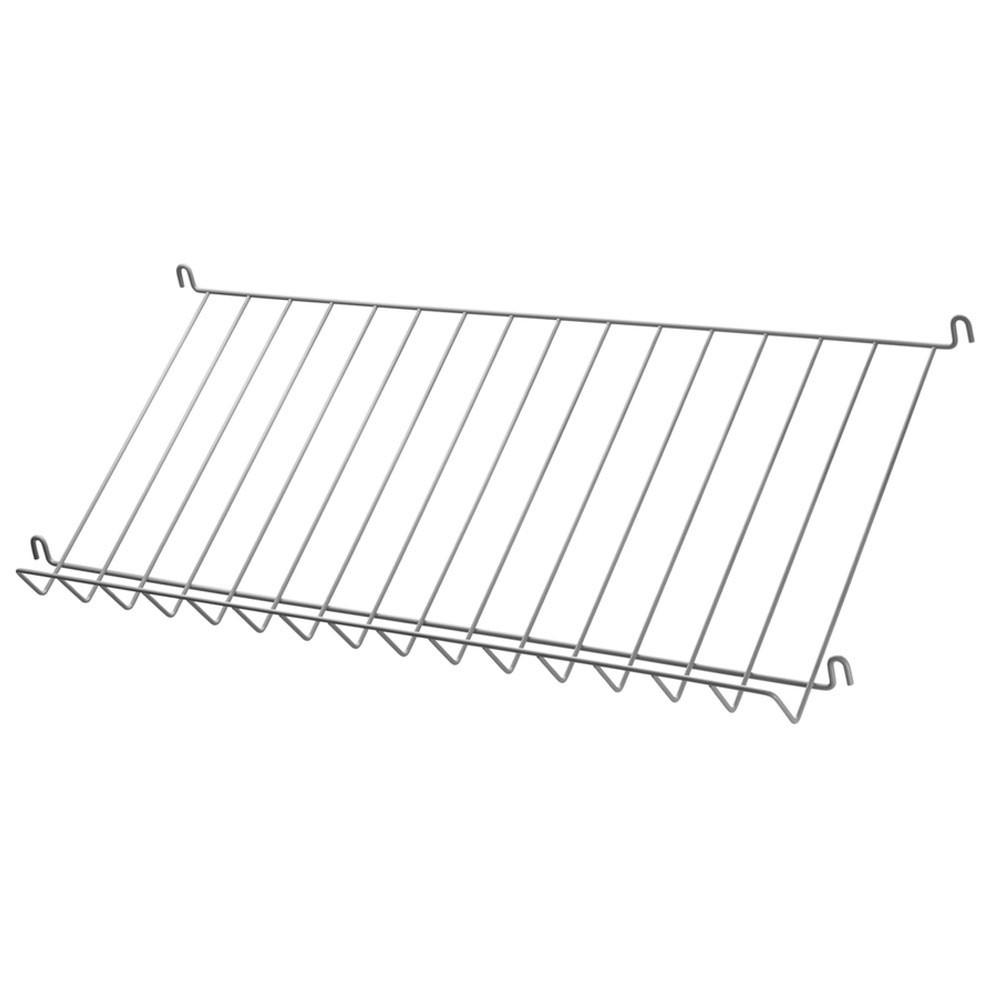 Grey metal magazine shelf - String system String