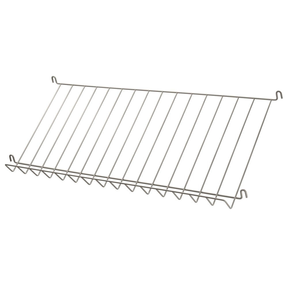 Beige metal magazine shelf - String system String