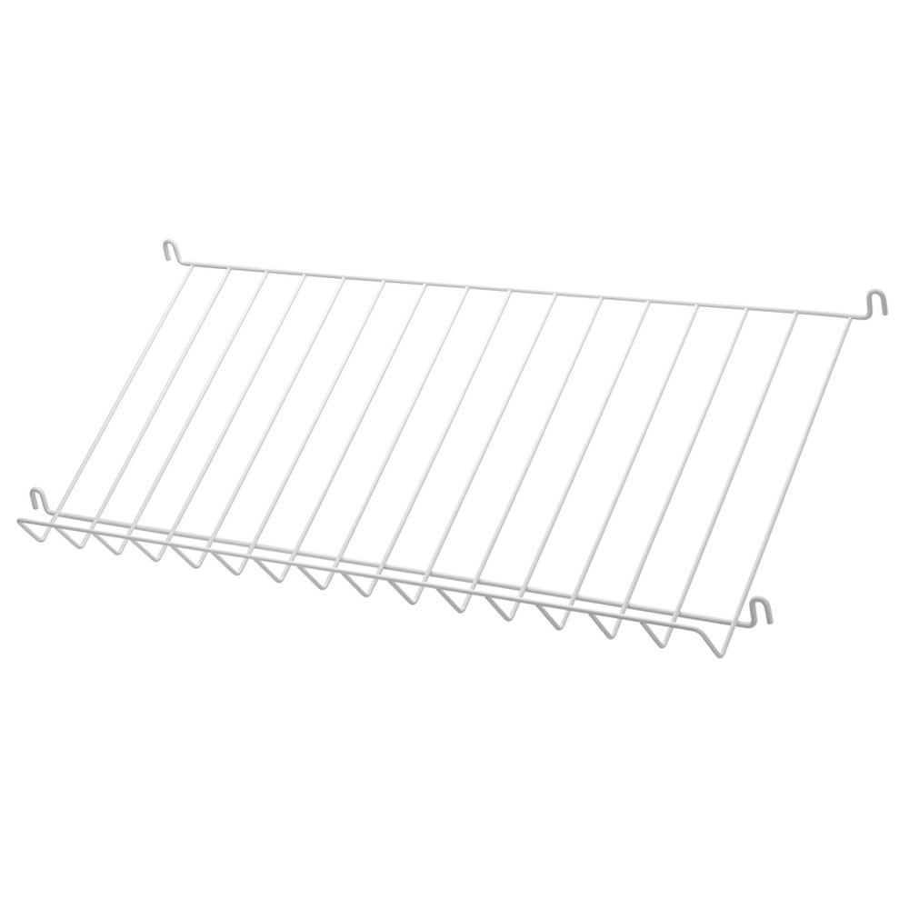 White metal magazine shelf - String system String