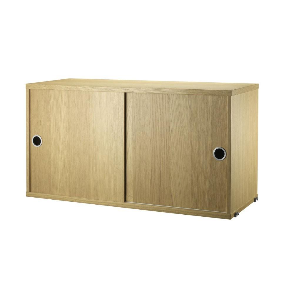 Cabinet avec portes coulissantes chêne - Système String String Furniture
