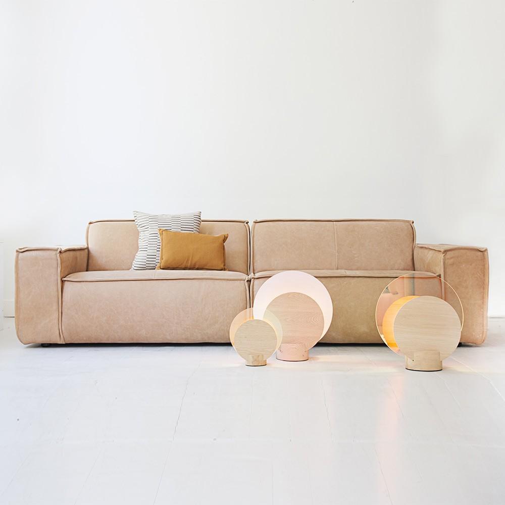 Edge sofa 3 seaters Leather Naturale 8002 Sand Fést