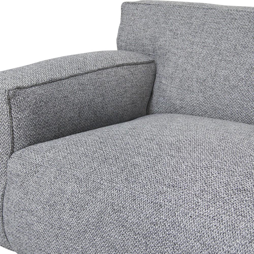 Clay 3-zits bank met chaise longue Polvere 90 Grijs Fést