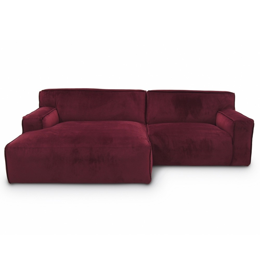 Clay sofa 2,5 seaters with longchair Seven 39 Winered Fést