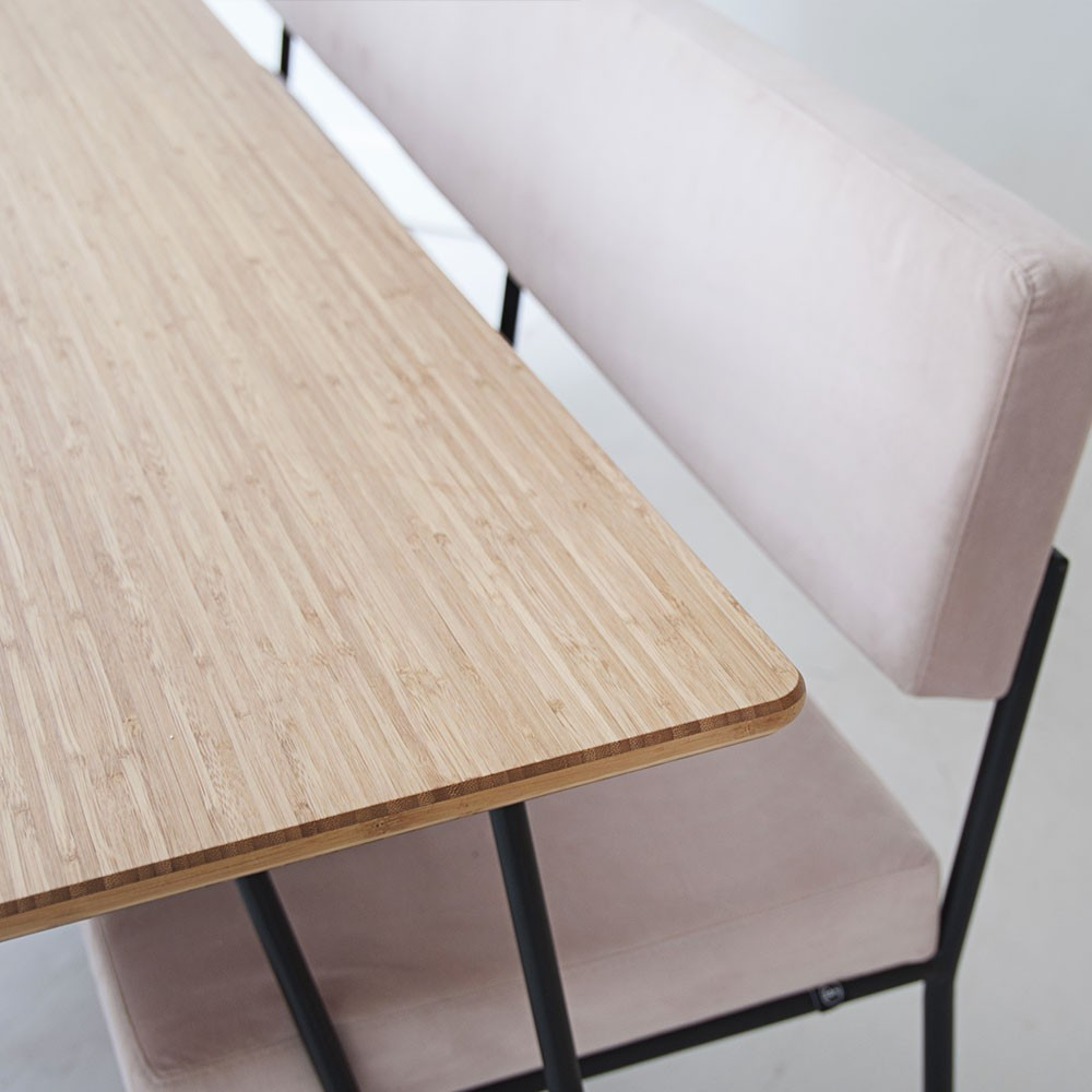 Ray bamboo dining table Fést
