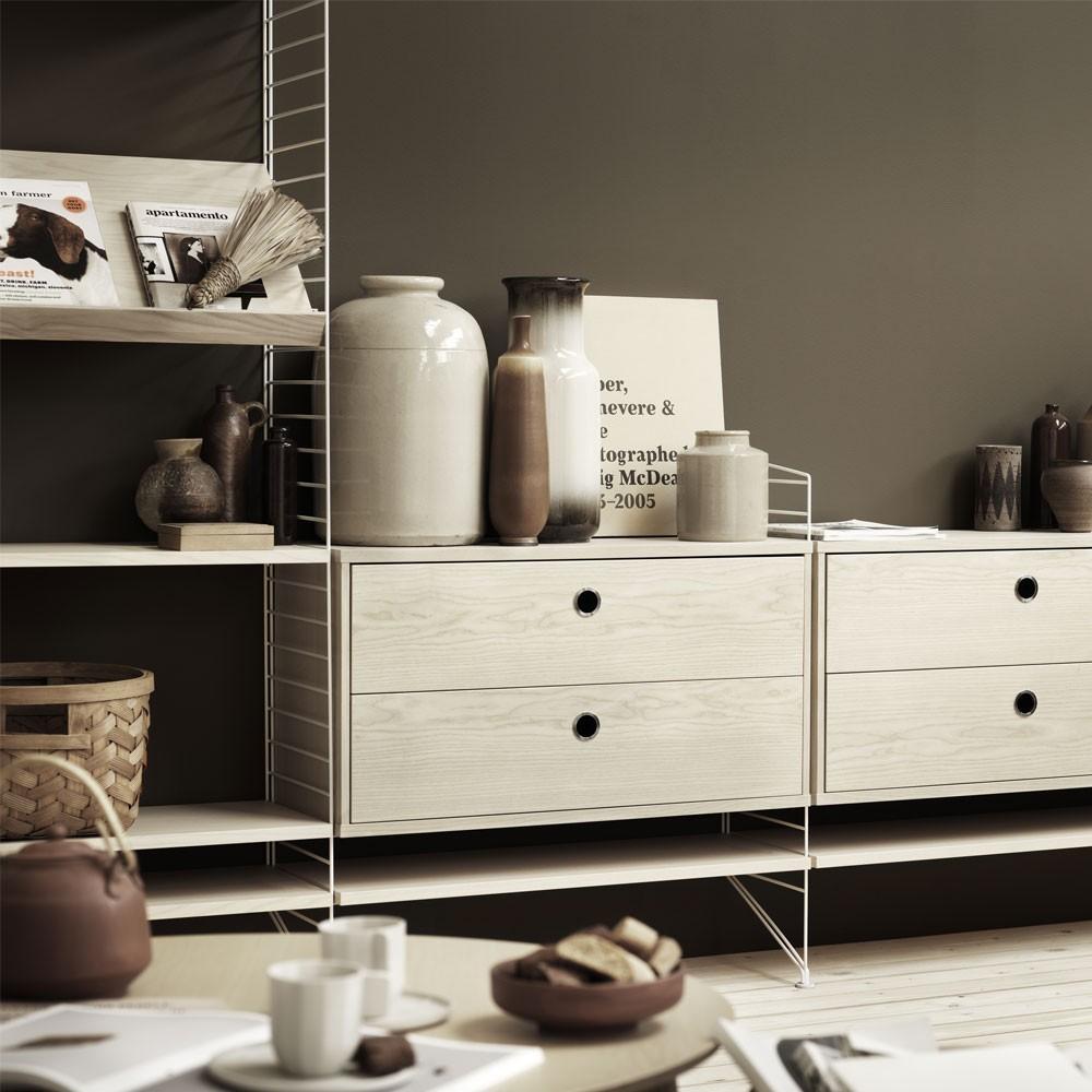 Ash ladekast met lades - String systeem String Furniture