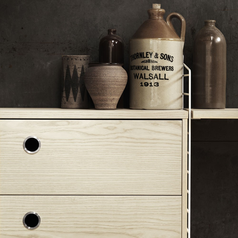 Ash chest of drawers - String system String