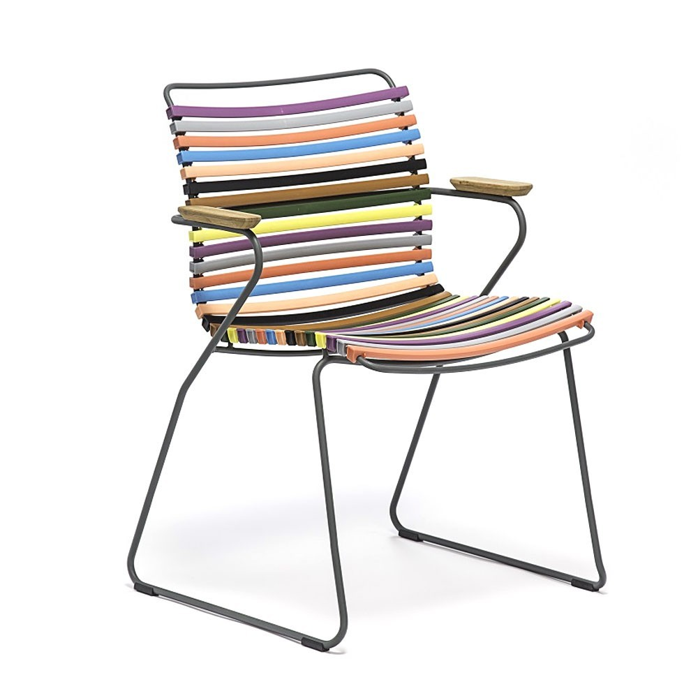 Click dining chair multicolor 1 with bamboo armrests Houe