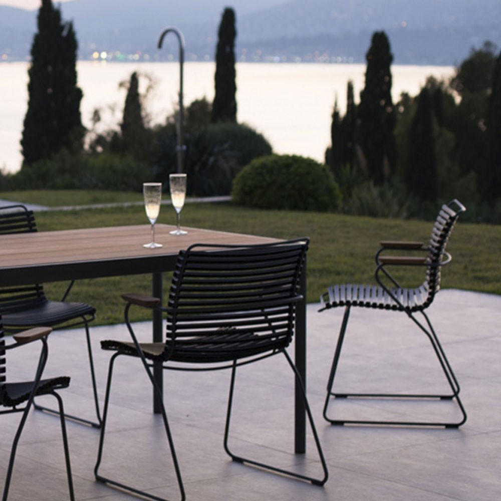 Click dining chair black with bamboo armrests Houe