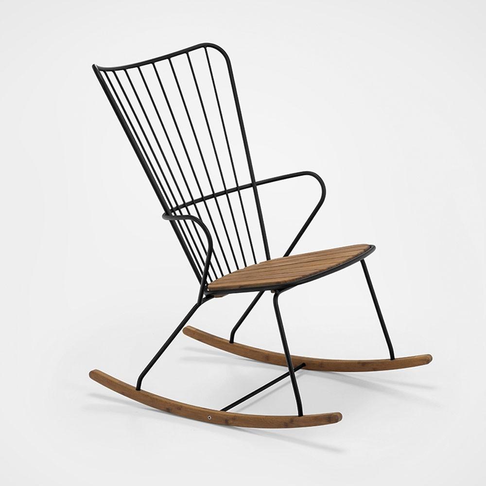 Zwarte pauwschommelstoel Houe