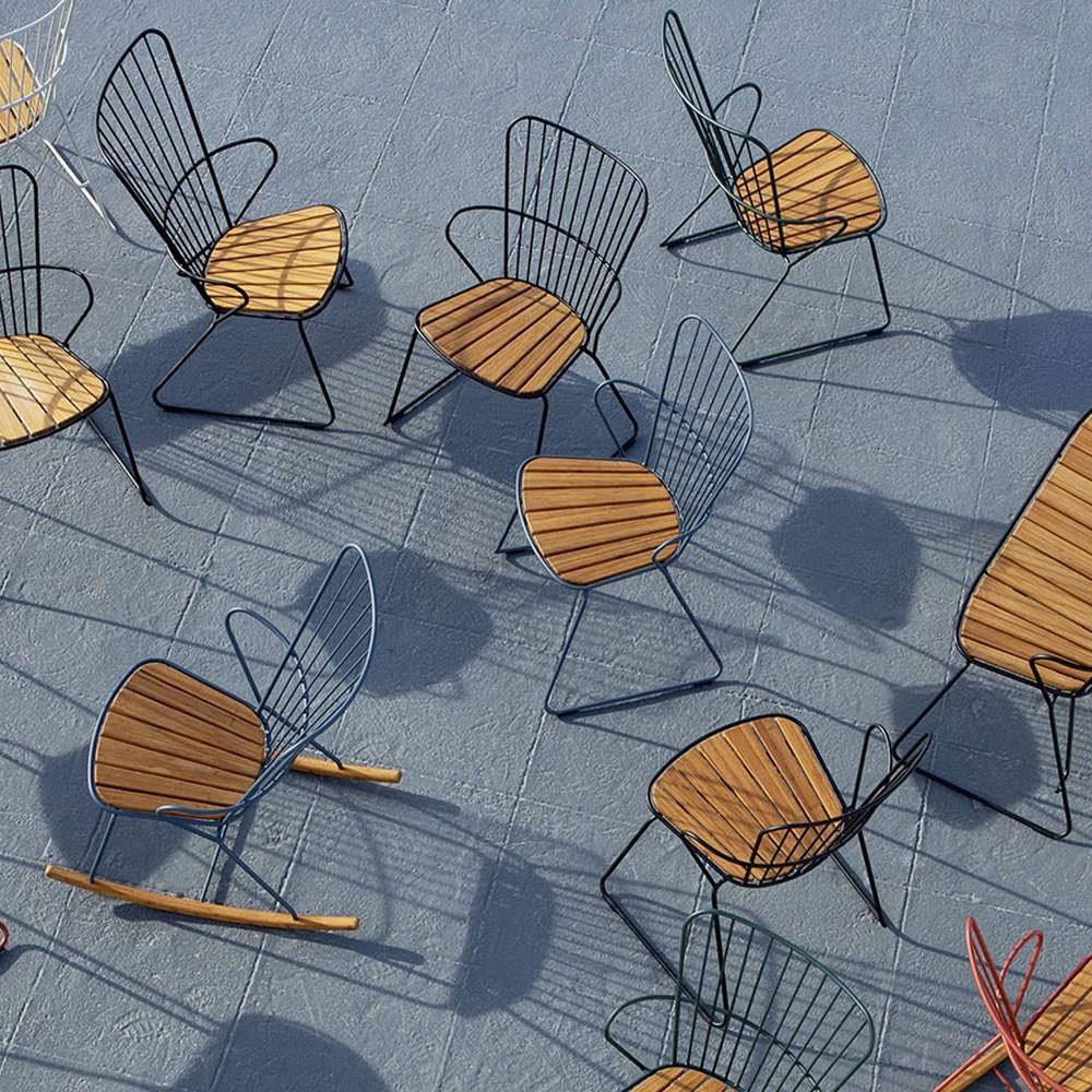 Paon rocking chair paprika Houe