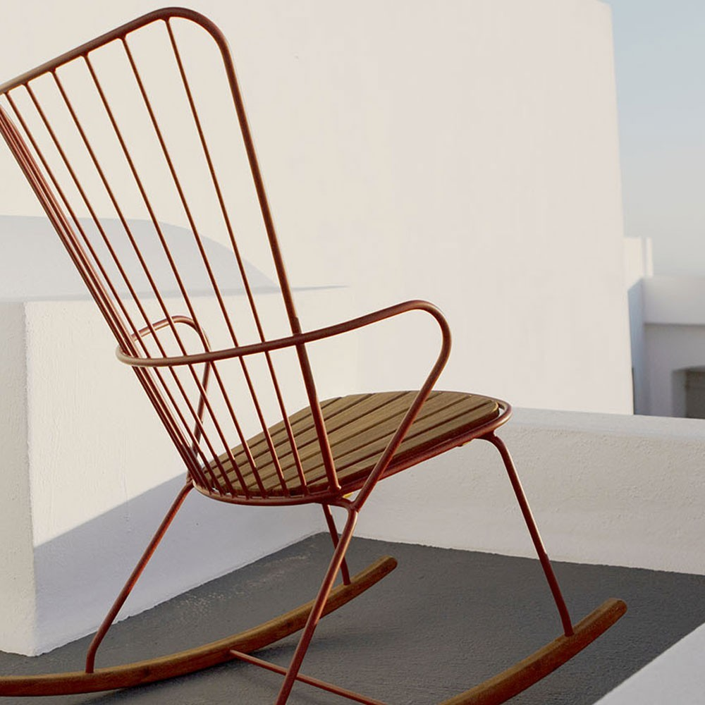 Paon rocking chair taupe Houe