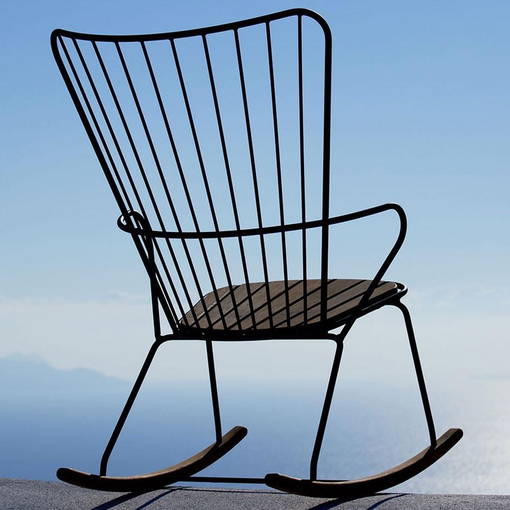 Taupe pauwschommelstoel Houe