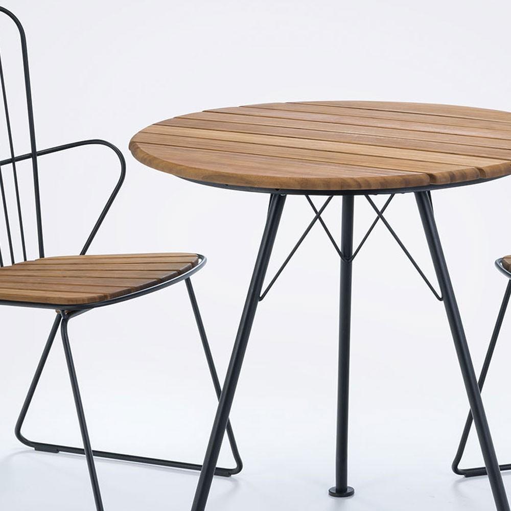 Circum bamboo cafe table Ø74cm Houe