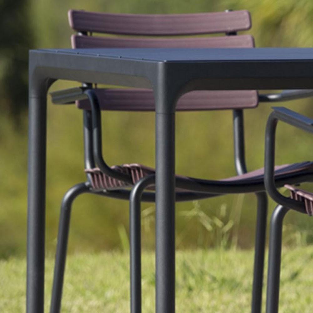 Table à manger Four 90x160cm noir Houe