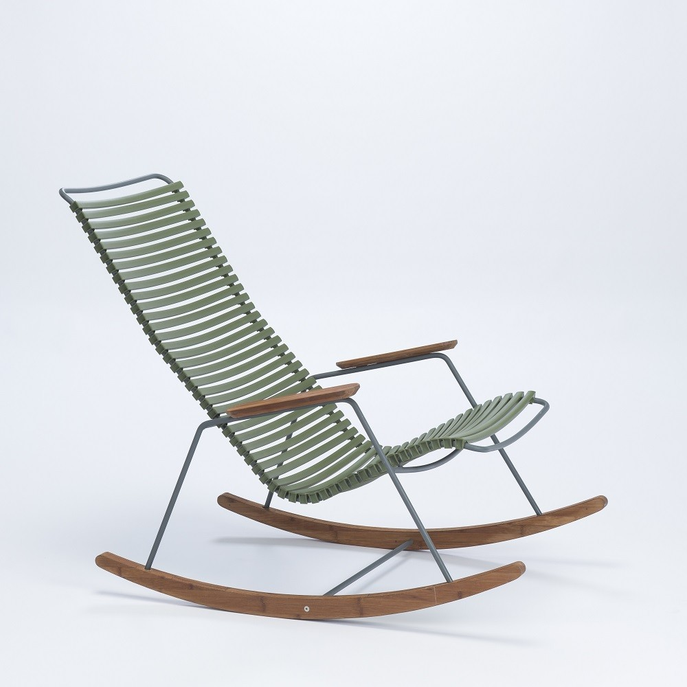 Rocking chair Click olive green Houe