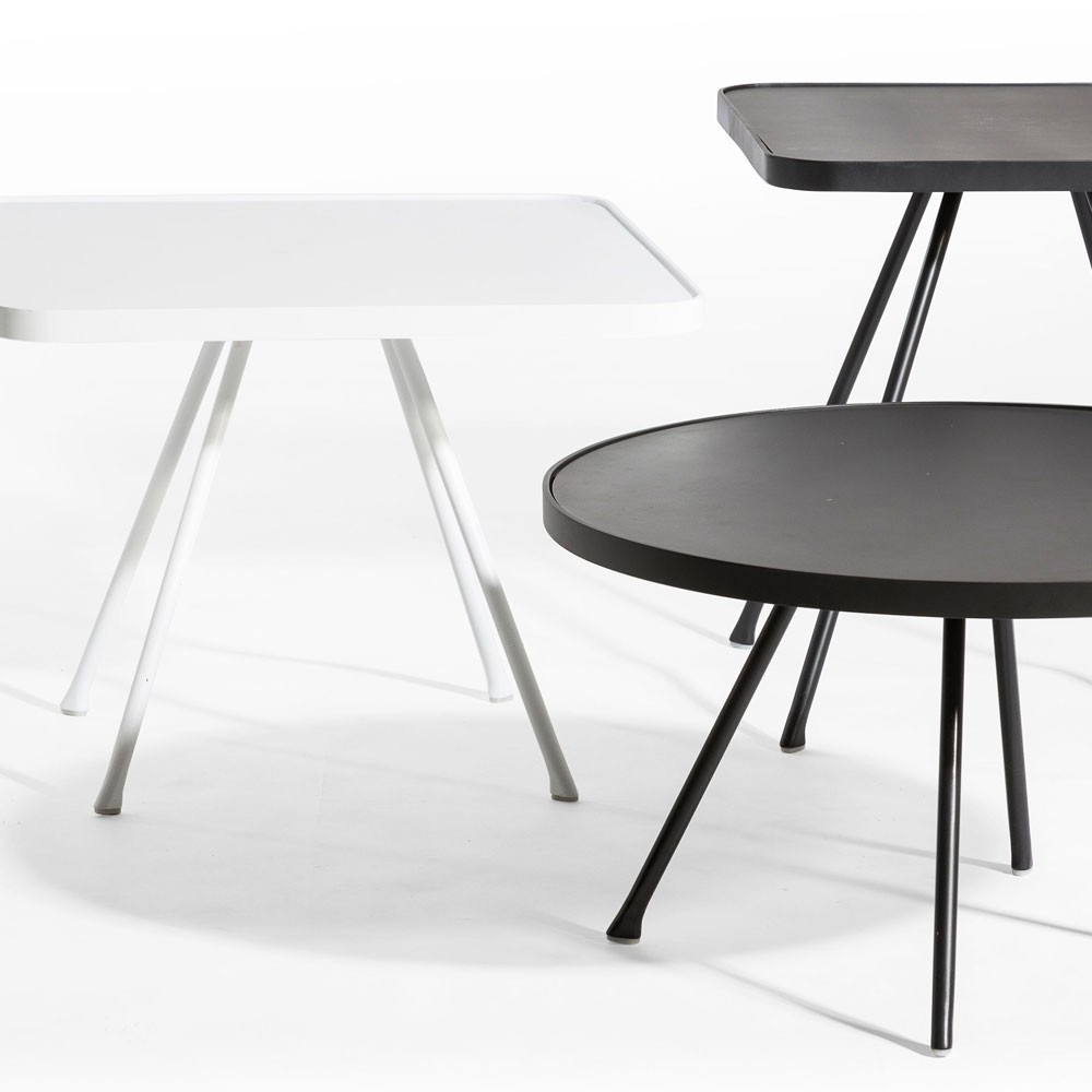 Table d'appoint Attol 45cm anthracite Oasiq