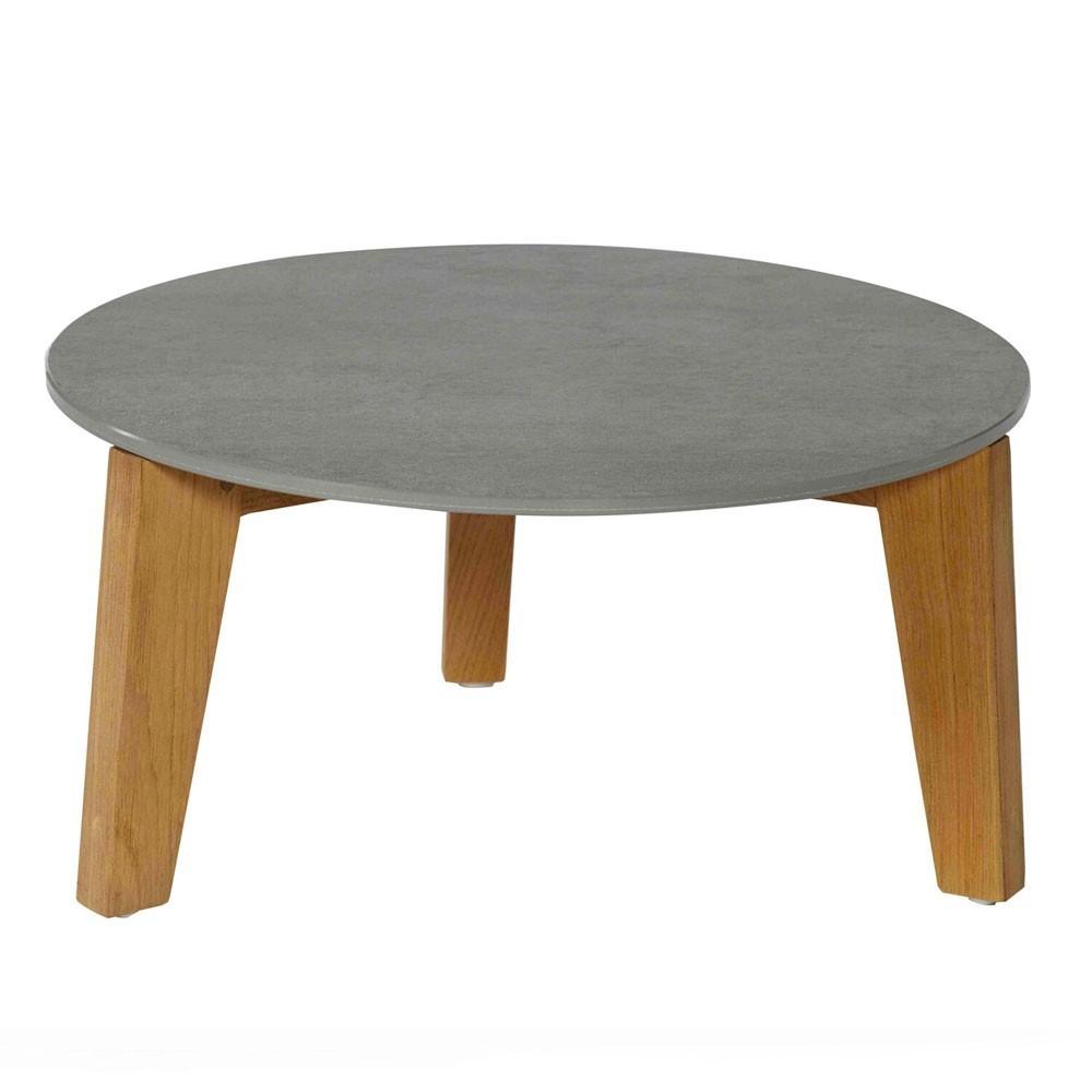 Attol ceramic side table 50cm grey Oasiq
