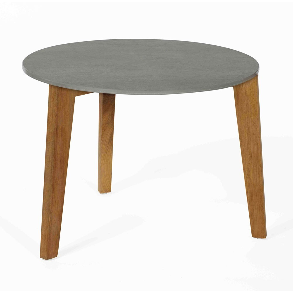 Attol ceramic side table 60cm grey Oasiq
